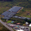 an orchid farm we had driven past (near Pahoa) - red building is KFC, larger building in the foreground is Long's Drugs