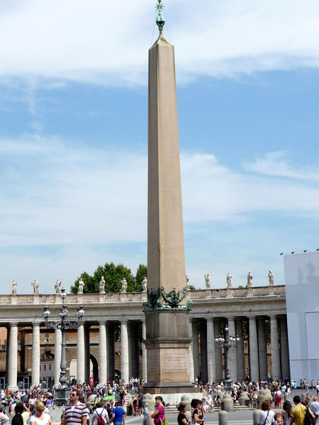 the obelisk at the center of St Peter's Square (Vatican City)