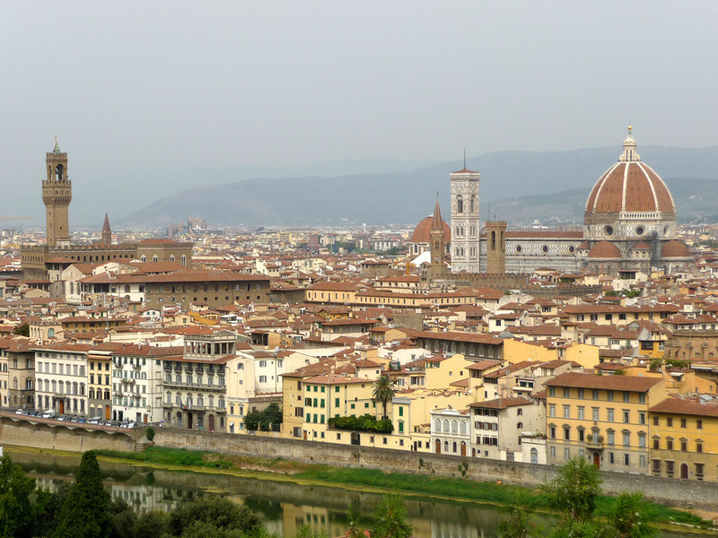 overlooking Florence from the Piazzale Michelangelo