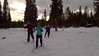 Maddy, Matthias, Nellie, and Allyn cross-country skiing
