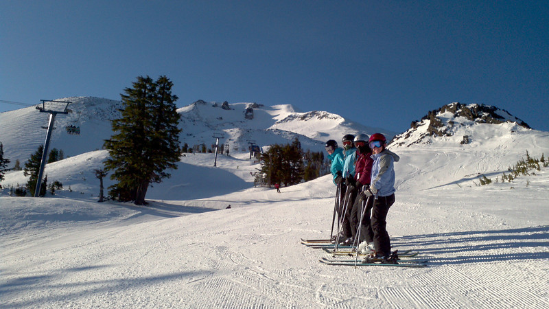 Maddy, Claire, Chloe, and Ellie at Mt Bachelor