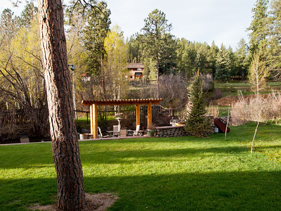 5/22 - Pergola and patio area overlooking Bear Creek