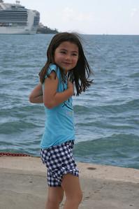 Kari in the harbor at St. Thomas.