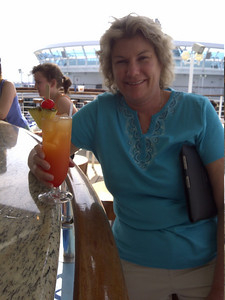 Peg with an ultimate Mai Tai.  Cheers everyone!