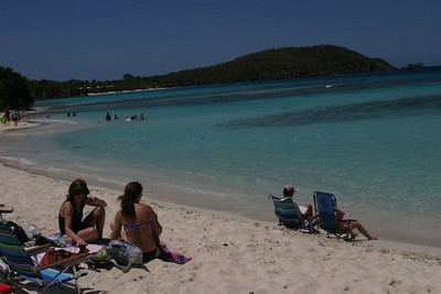 Fairly quite vs. the more popular destination, Trunks Bay.