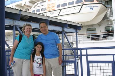 boarding the Caribbean Princess in San Juan, Puerto Rico