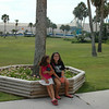 Kennedy and Audrey at the Texas State Aquarium in Corpus Christi