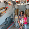 Audrey and Kennedy inside a 5' deck gun