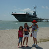 Kennedy, Audrey and Nila at the USS Lexington