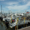 The marina in Port Aransas