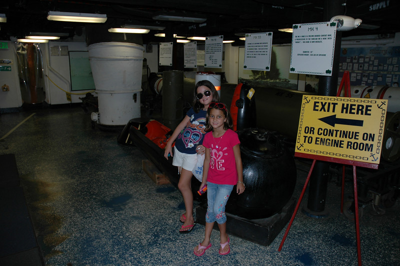 Audrey and Kennedy leaning on a mine