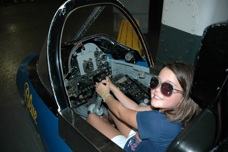 Audrey in the A-4 Skyhawk trainer