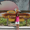 Kennedy's wing span is about the same as an owl