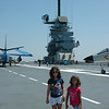 Audrey and Kennedy on the flight deck
