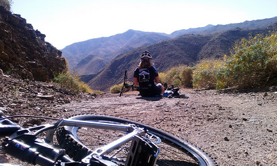 Day 1 - Von's trails.  Top of 1200 foot climb.  Yikes!