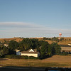 early Sunday morning, from the hotel window, looking west towards airport