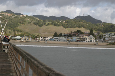 Looking at the town from the end of the pier.