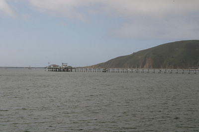 View to the north of the pier.