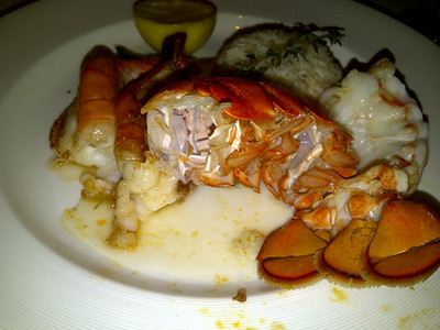 Shrimp and lobster tail.