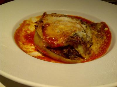 Eggplant parmesan.