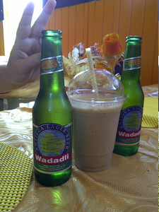 3 cold ones in Antigua.  We had lunch at Grace before meals in English Harbour.