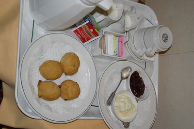 Peg ordered the afternoon tea.  We were overwhelmed by the service.  the first plate include scones, jam and clotted cream.