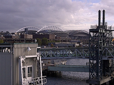 View south - CenturyLink and Safeco Fields in the background.  (football and baseball, respectively).
