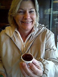 """$1.00 for a """"shot"""" of their Brazilian hot chocolate.  A family recipe from back home."""