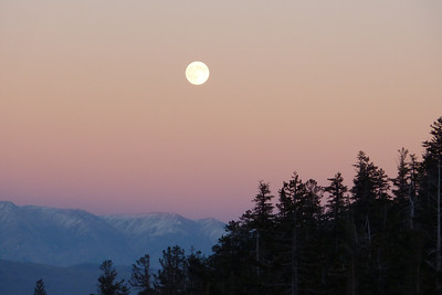 Moonrise over The White Mountains Oct 2011