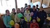 Paul Puettmann (center in gray) 18th birthday with CHS ski team at Willamette Pass