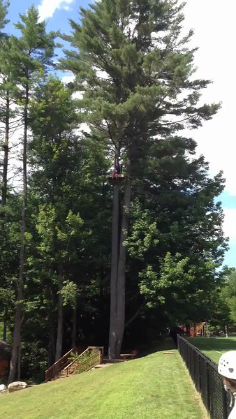 Jack on the zip line at Camp Laurel visiting day
