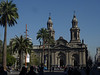 the cathedral by Plaza de Armas in Santiago