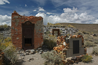 The Bodie Bank vault - #25.  The vault is all that survived the fire.