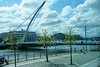 Samuel Beckett Harp Bridge over the River Liffey.
