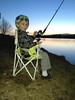 Beckham fishin as the sun set