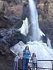 Nan, Sydnee, and Beckham at the foot of Treasure Falls