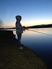 Sydnee fishing as the sun set