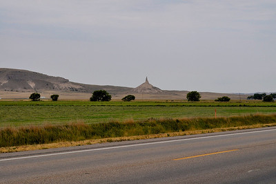 Chimney Rock, Bayard, Nebraska  See web site here:  http://www.stateparks.com/chimney_rock_national_historic_site_in_nebraska.html