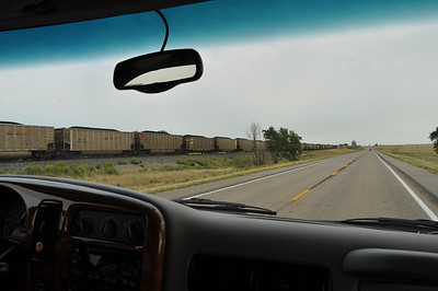 Coal train after coal train.  Some I'm sure are a mile long, if not longer.