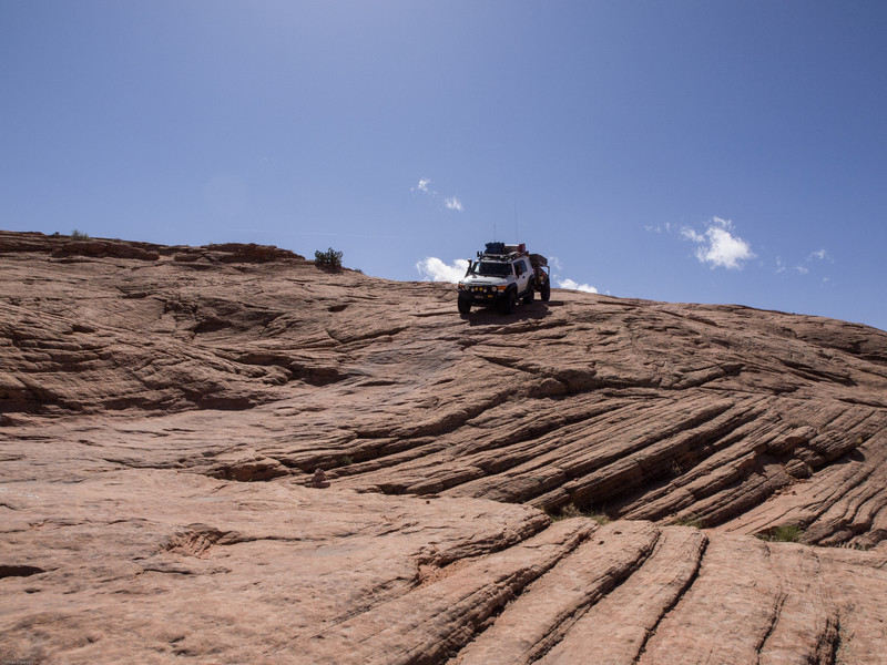 Sandstone<br /> The trail following the contours