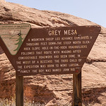 Gray Mesa Grey Mesa sign