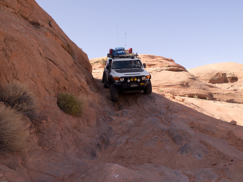Hole in the Rock Trail<br /> Working the articulation
