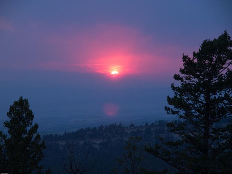 Wyoming Bighorn Adventure - Day 2<br /> Smokey sunset