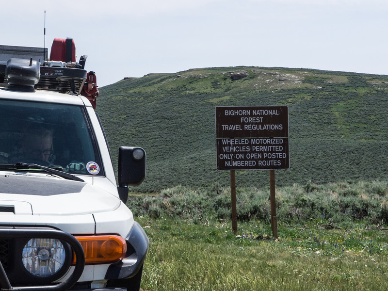 Wyoming Bighorn Adventure - Day 2<br /> Keep to the designated roads