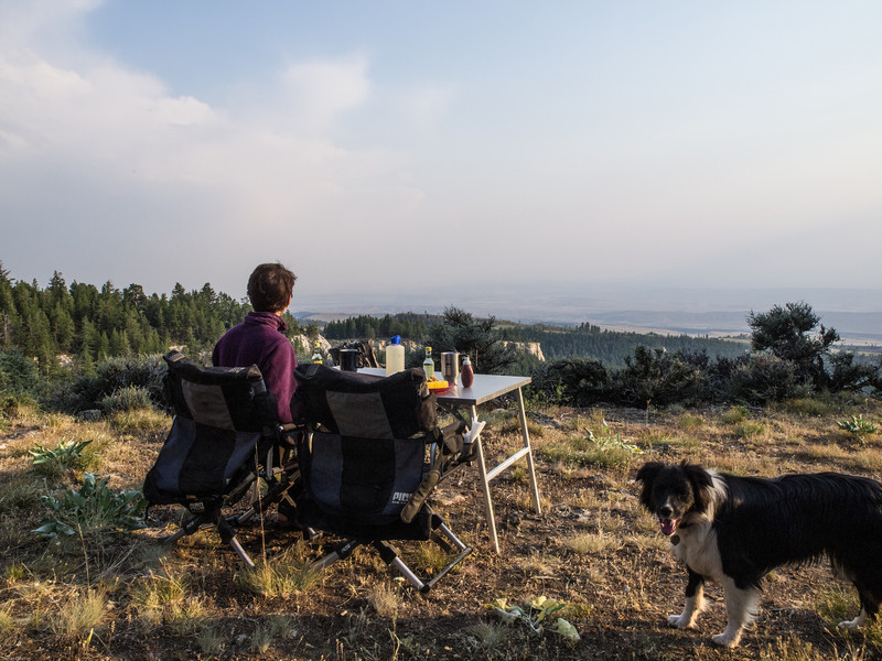 Wyoming Bighorn Adventure - Day 2<br /> The view a dinner