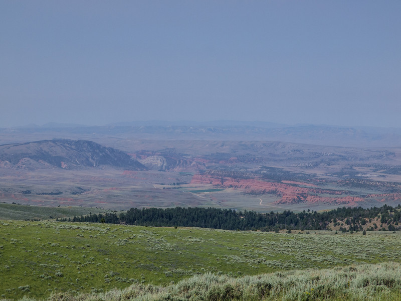 Wyoming Bighorn Adventure - Day 2<br /> View down off the mountains