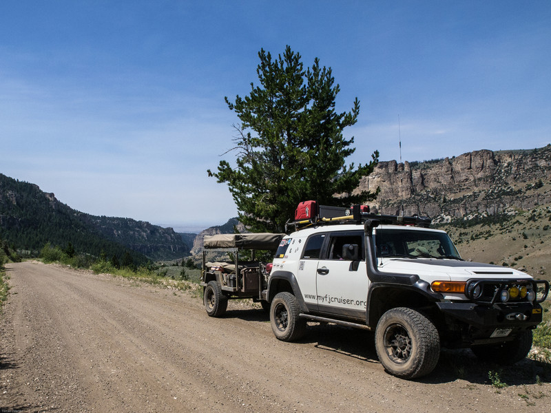 Wyoming Bighorn Adventure - Day 2<br /> FJC in front of Ten Sleep Canyon