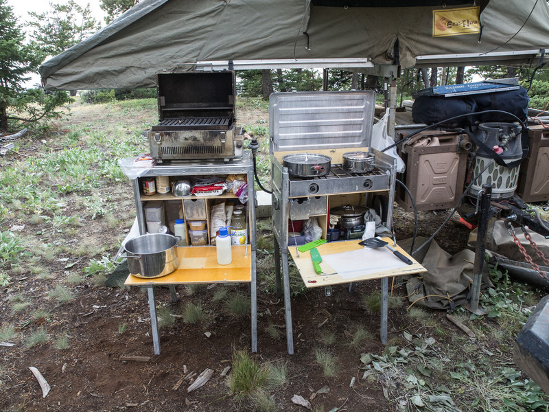 Wyoming Bighorn Adventure - Day 2<br /> Camp kitchen ready to cook