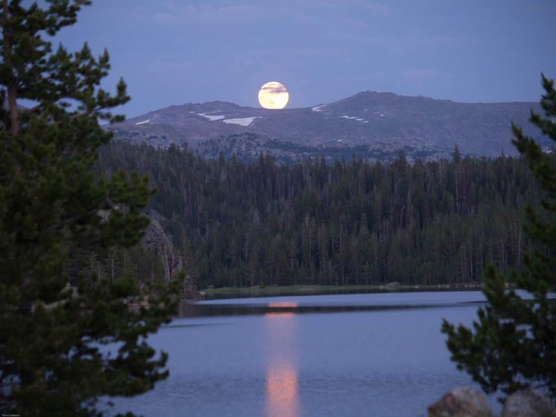 Bighorn Mountains Day 3<br /> Moon rise