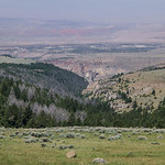 Bighorn Mountains Day 3 Looking back down over Medicine Lodge State Park